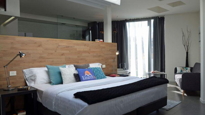 Doppelbett im Master Schlafzimmer Villa Adeje auf Teneriffa