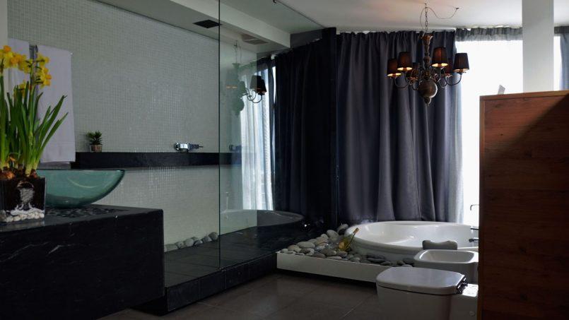 Regendusche Badezimmer Villa Adeje auf Teneriffa