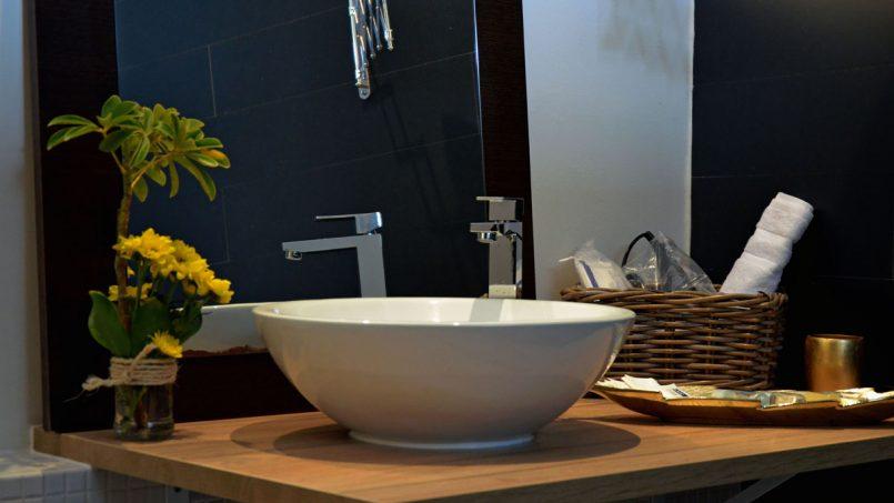 Waschbecken Duschbad Villa Adeje auf Teneriffa