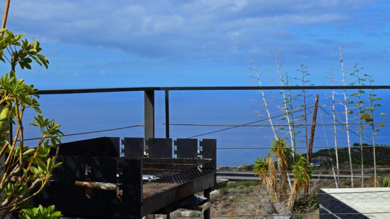 Grillen mit Blick auf das Meer Villa Adeje auf Teneriffa