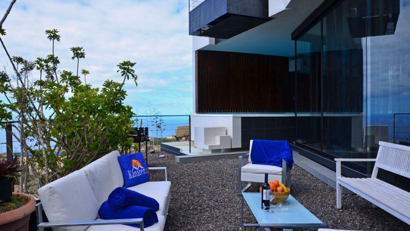 Sitzbereich Terrasse Villa Adeje auf Teneriffa