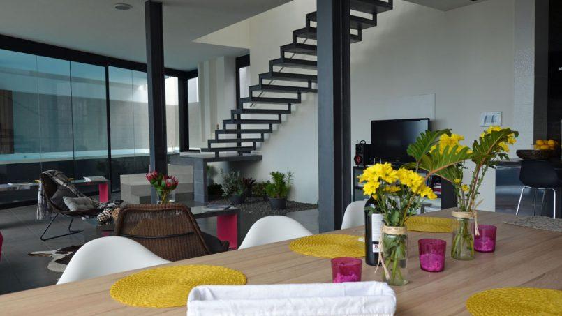 Deko Esstisch Villa Adeje auf Teneriffa