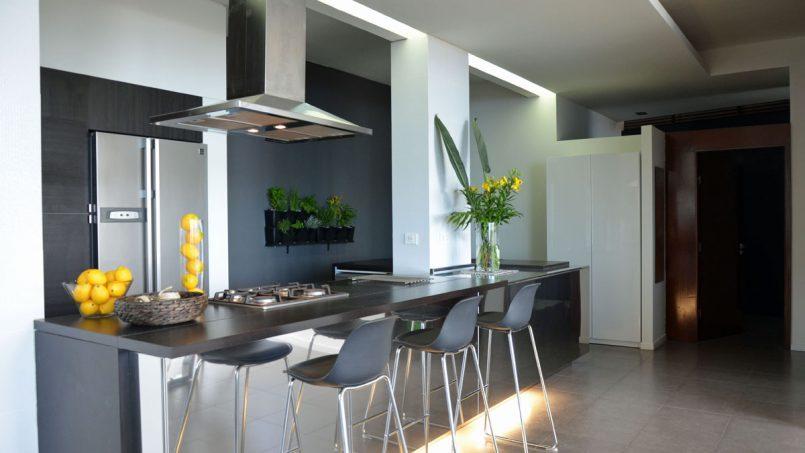 Theke offene Küche Villa Adeje auf Teneriffa