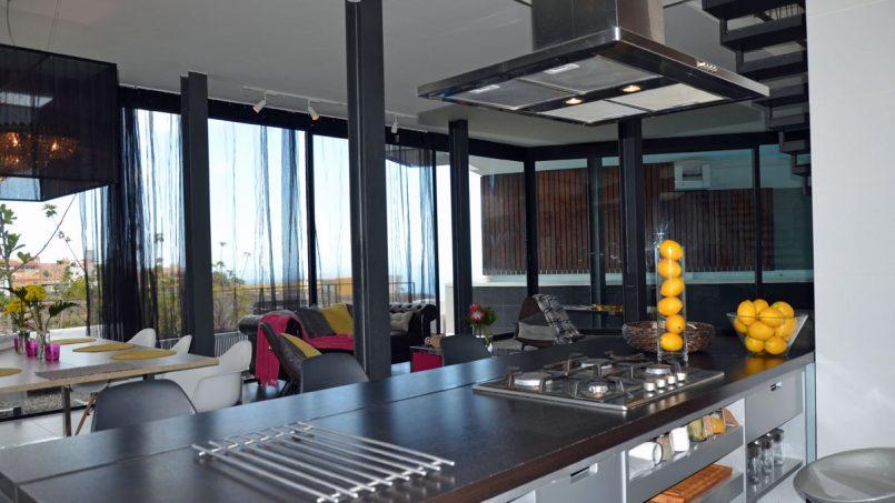 Herdplatten offene Küche Villa Adeje auf Teneriffa